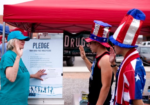 America's Birthday Celebrated With a Drug-Free Pledge