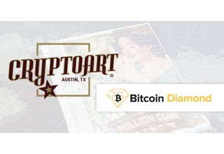 Cryptoart and Bitcoin Diamond Logos