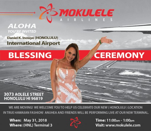Mokulele Airlines Blessing Event With Music by Anuhea