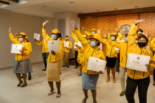 A special graduation at the Church of Scientology Pretoria, where those who have completed all 19 Sc