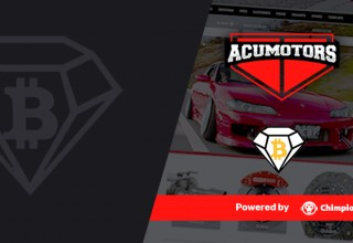 Acumotors.com Home Page with Chimpion's Crypto Integration
