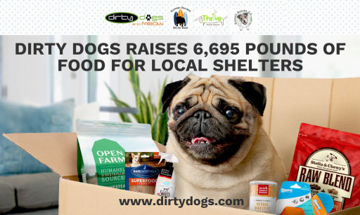 DirtyDogs & Meow Raises Over 6,600 Pounds of Pet Food for Local Shelters