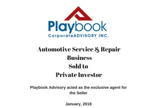 Sale of Automotive Repair business