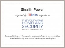 Stealth Power - CIORewiew's 10 Most Promising Homeland Security Solution Providers - 2018