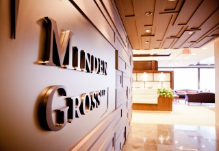Minden Gross LLP - Lobby with Logo