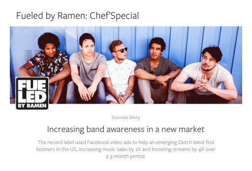 Dash Two, Music Ad Agency, and Record Label Fueled by Ramen, Featured inFacebook Advertising Success Story