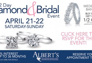 Diamond and Bridal Event homepage banner