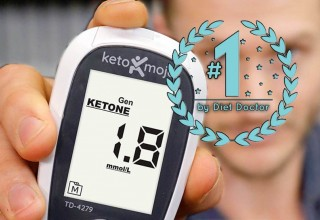 Keto-Mojo Rated #1 Ketone Meter by Diet Doctor