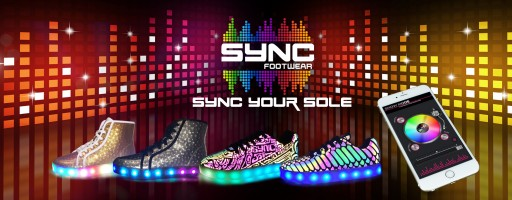 Sync Footwear the World's Most-Advanced App Controlled LED Shoes Launches on Indiegogo for Exclusive Pre-Sale