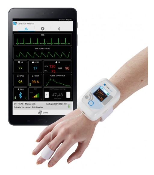 Caretaker Medical Receives New Investment From Philips and Others to Enhance Wireless 'Beat by Beat' Blood Pressure and Continuous Vital Signs Platform for Remote and 'Clinically-Distanced' Patient Monitoring