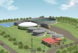 ZooShare's Future Biogas Plant 3D illustration