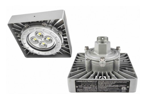 Larson Electronics Releases Explosion Proof Low Bay LED Light Fixture, 50W, 7,000 Lumens, Paint Spray Booth Approved