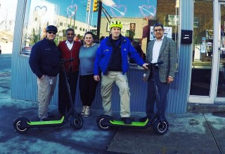 Garfield Police Department rides Electric Scooters