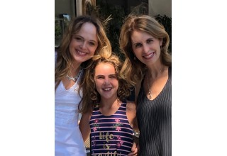 Casting Director Catherine Stroud and Lisa London with actress Lexy Kolker