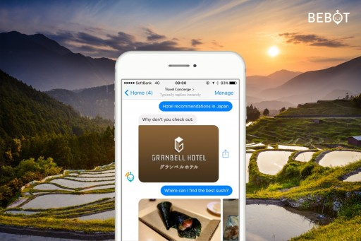 Hotel Chatbot: Bebot Introduced Across an Emerging Hotel Brand in Japan