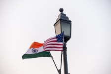 U.S. and Indian Flags