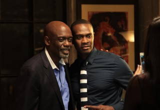 Actors Carl Gilliard and Brian Hooks