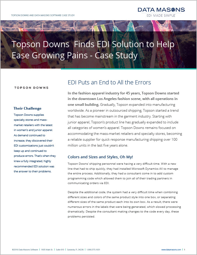 Microsoft Dynamics Ax Customer Topson Downs Speeds Processing With