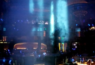 Omnia club private event at Caesars Palace Las Vegas with new technology LED lanyards