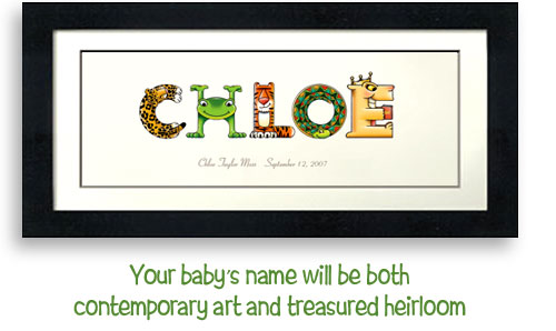 a8aa350eb9f99 Babycees Name Art - Personalized Keepsakes for Babies, Tots and ...
