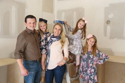 Rick Walker Family in Flooded House