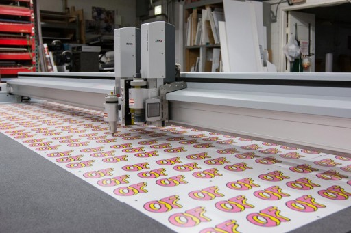 Sunrise Offers Fast Trade Show Displays and Low Cost Packaging With Huge Digital Cutter