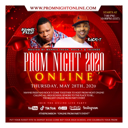 DJ/Producer Mannie Fresh Teams Up With Radio Personality Rock-T to Put 'Fresh' Spin on Prom for Class of 2020