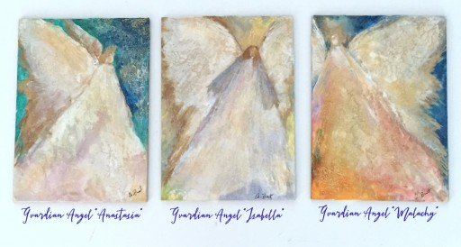 "Ann Burt - Devotional Art Unveils 2017 Summer ""Whispering Angels - the Guardians"" Art Collection"