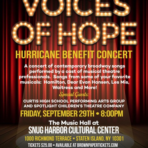 "Spotlight Theatre, in Association With Snug Harbor Cultural Center Presents ""Voices of Hope: A Hurricane Benefit Concert"""