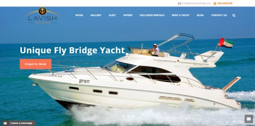 Lavish Yachting Launches Website for Customers in Dubai