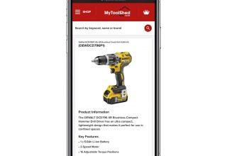 Mytoolshed on Mobile Phone