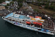 Mavi Marmara Cruise ship sails off Istanbul, 22 May 2010