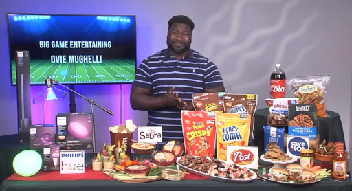 Ovie Mughelli Share Big Game Party Fun with Tips on TV