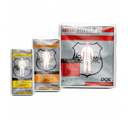 DQE Sentry Shield™ Powdered Substance Protection Kits Delivers Hazardous Opioid Exposure Protection