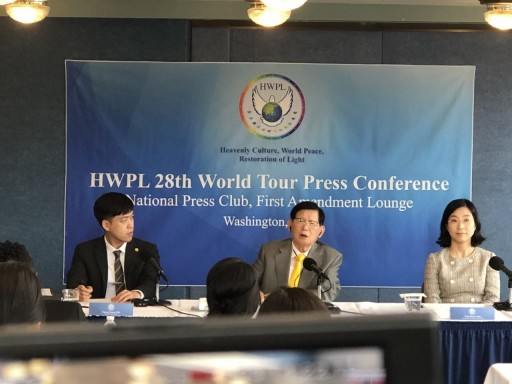 International Peace Delegates Hold Press Conference at National Press Club