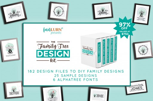 Leading SVG Design Shop FunLurn Launches the Family Tree Design Kit
