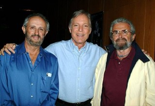 Director Jerry London With Actor Richard Chamberlain and Eric Bercovici