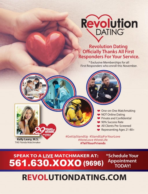 Revolution Dating Offers Exclusive November Memberships to First Responders