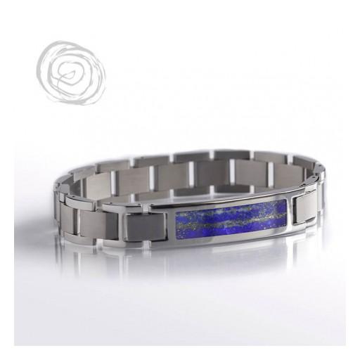 Blue Pyrite Interchangeable Bracelet With Lapis Lazuli
