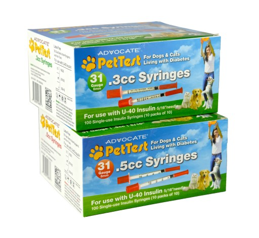 Advocate by Pharma Supply, Inc. Releasing PetTest Branded U-40 Syringes for Pet Use