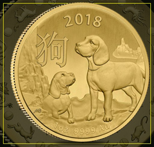 The Royal Australian Mint Celebrates the 2018 Year of the Dog. Now at Bullion Exchanges.