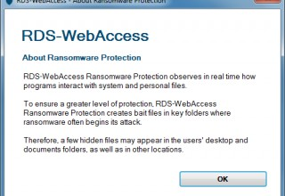 RDS-Knight integrated with RDS-WebAccess detects and blocks ransomware attacks
