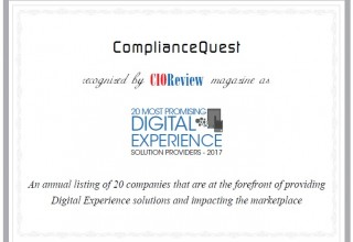 CIOReview Award for ComplianceQuest