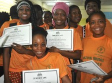 Summer program at AME University in Liberia