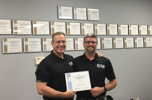 CAS Receives FAA Diamond Award for Training Excellence for the Fourth Consecutive Year
