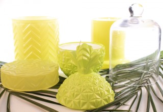 Luxury Glass Candles Neon Yellow