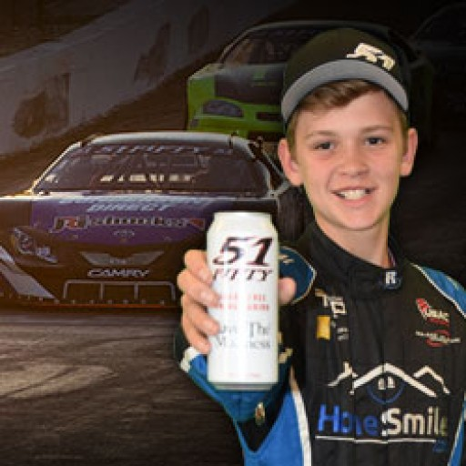 Jesse Love, 12-Year-Old Racing Sensation, Inks Pact With 51FIFTY Energy Drink
