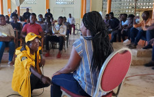 Demonstration of a Scientology assist at a workshop in Haiti