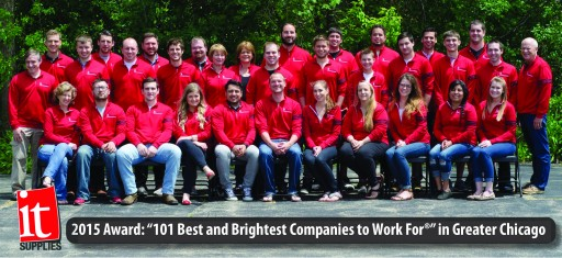"IT Supplies Inc. Named One of ""Chicago's Best and Brightest Companies to Work For®"""