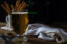 Cider on a bar table